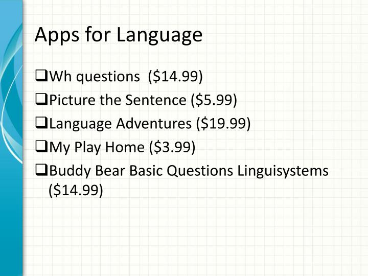 Apps for Language