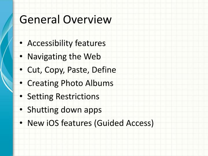 General Overview