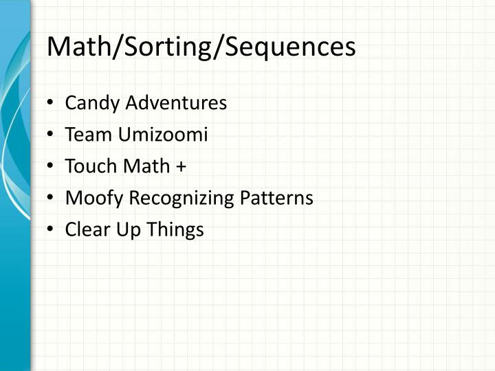 Math/Sorting/Sequences