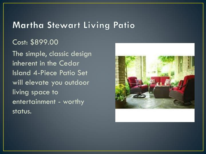 Martha Stewart Living Patio