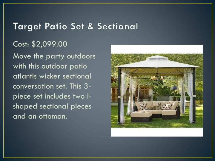 Target Patio Set & Sectional