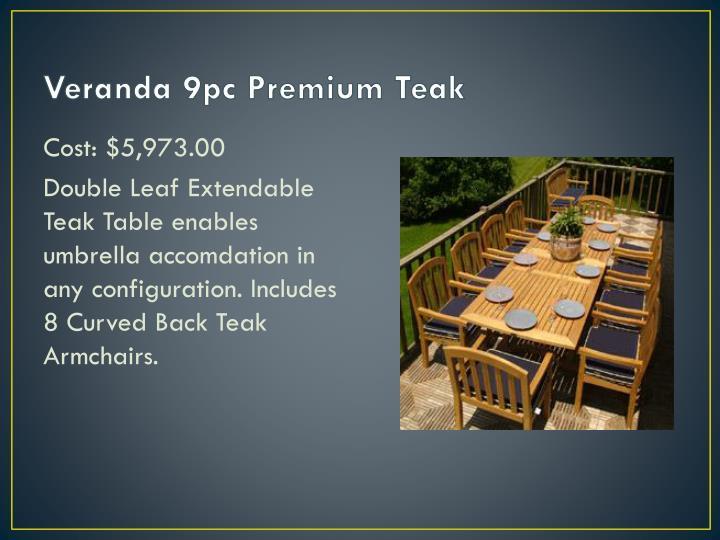 Veranda 9pc Premium Teak