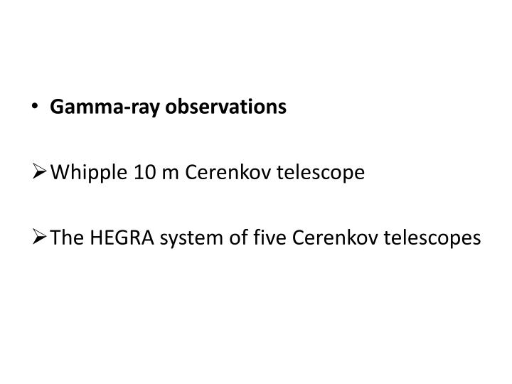 Gamma-ray observations