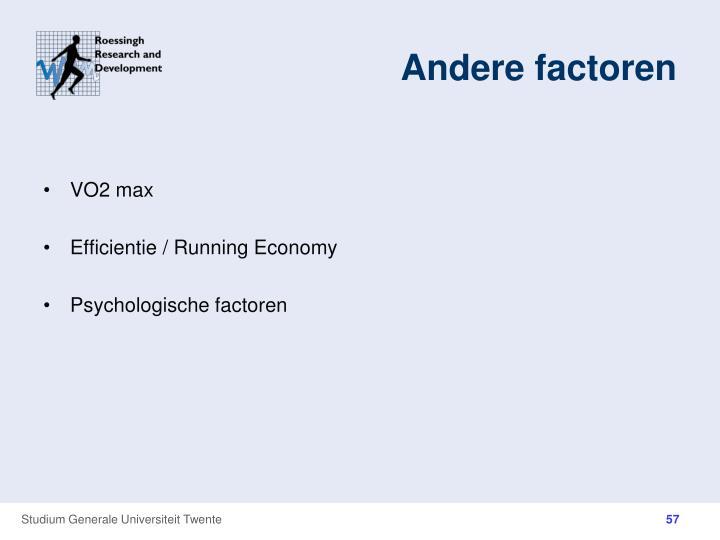 Andere factoren