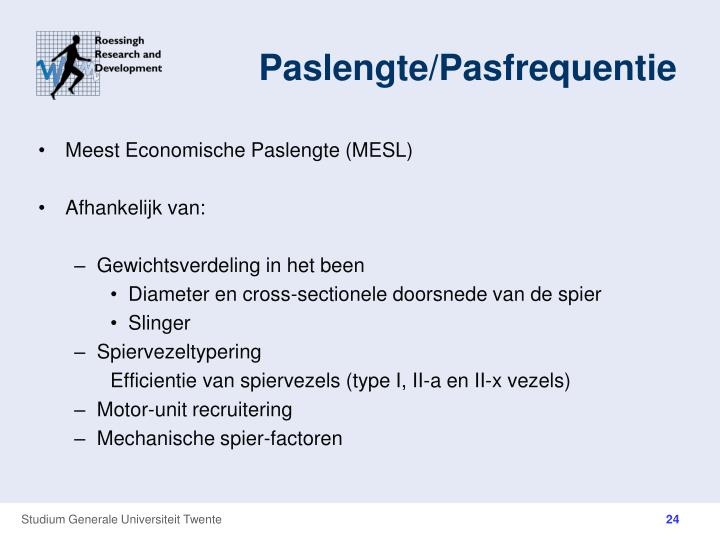 Paslengte/Pasfrequentie