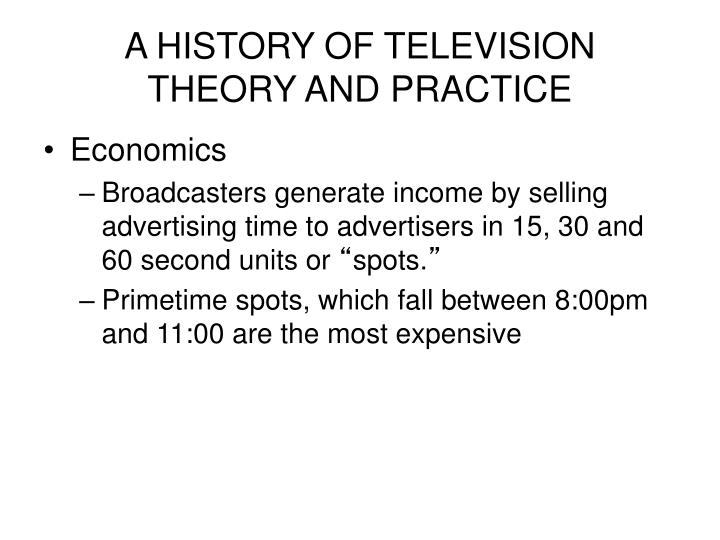 A history of television theory and practice2