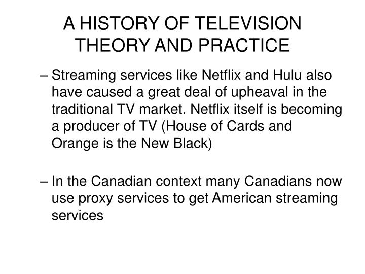 A HISTORY OF TELEVISION