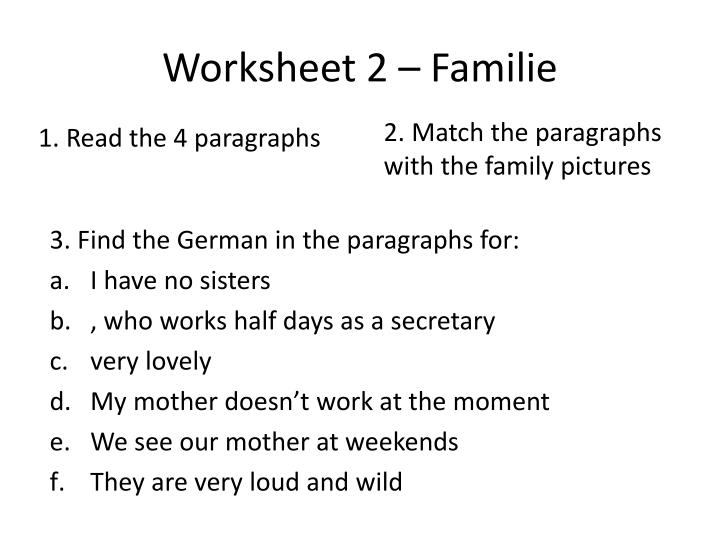 Worksheet 2 –
