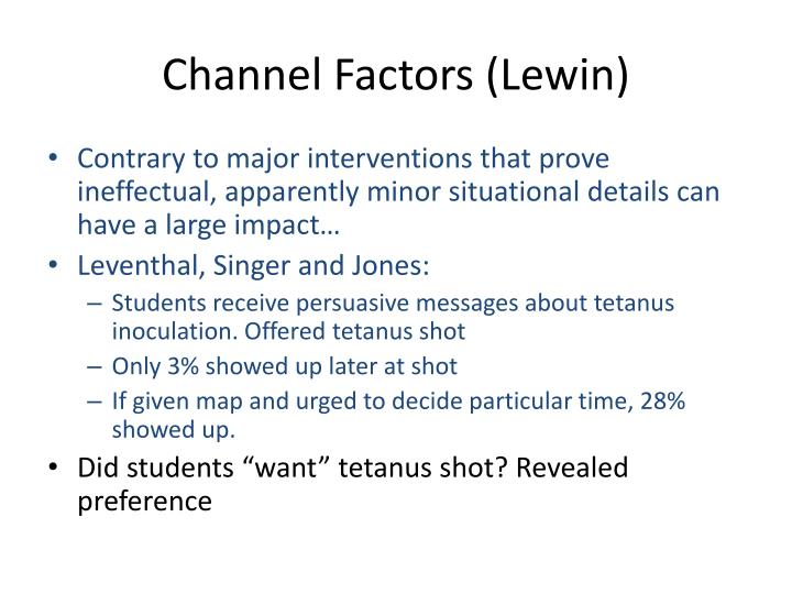 Channel Factors (Lewin)
