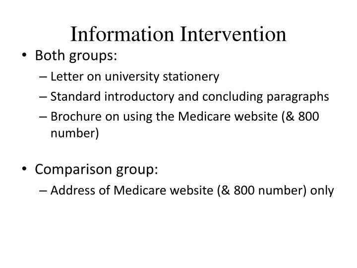 Information Intervention