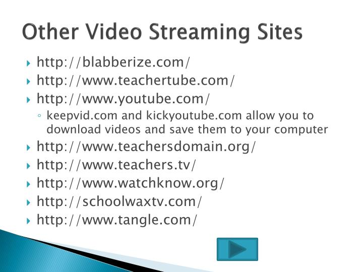 Other Video Streaming Sites