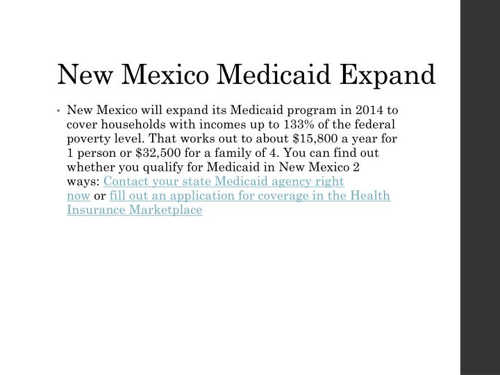 New Mexico Medicaid Expand