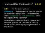 how should we christians live 2 1 103