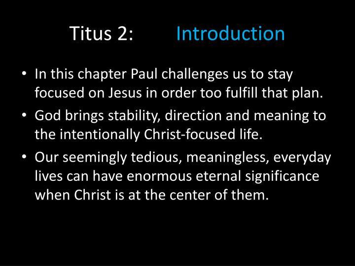 Titus 2: