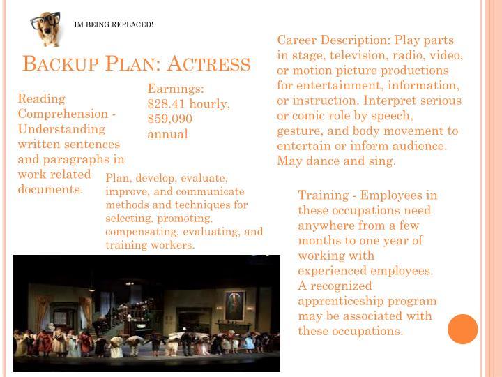 Backup Plan: Actress