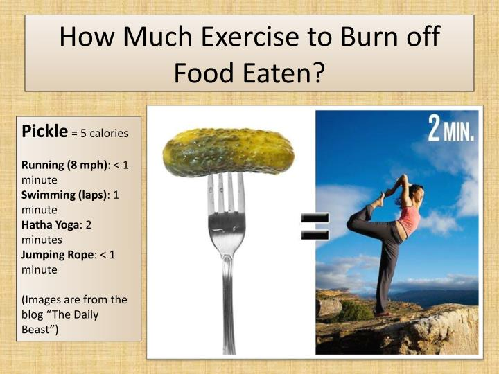 How Much Exercise to Burn off Food Eaten?