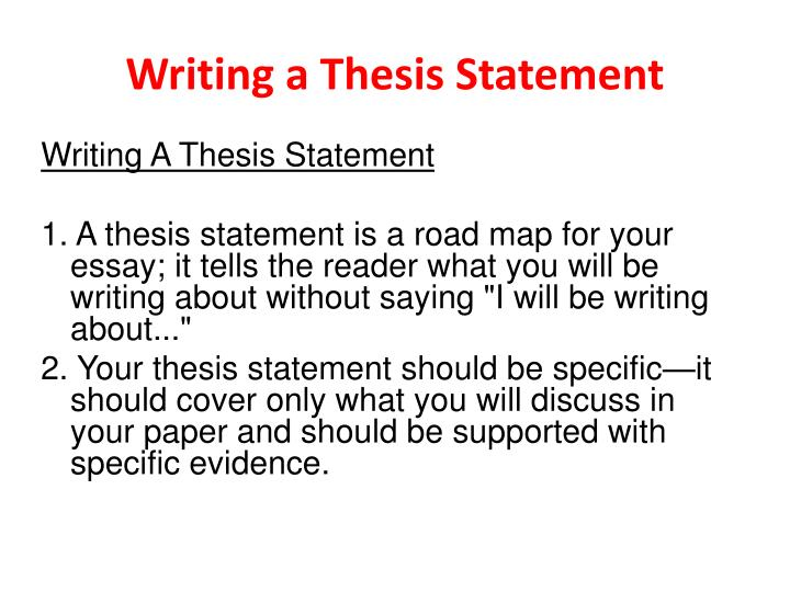 Writing thesis statement english essay