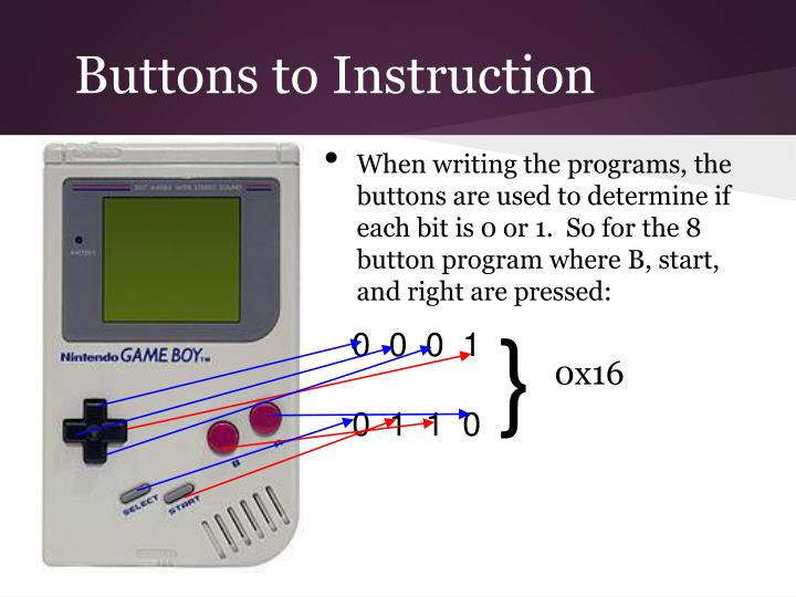 Buttons to Instruction