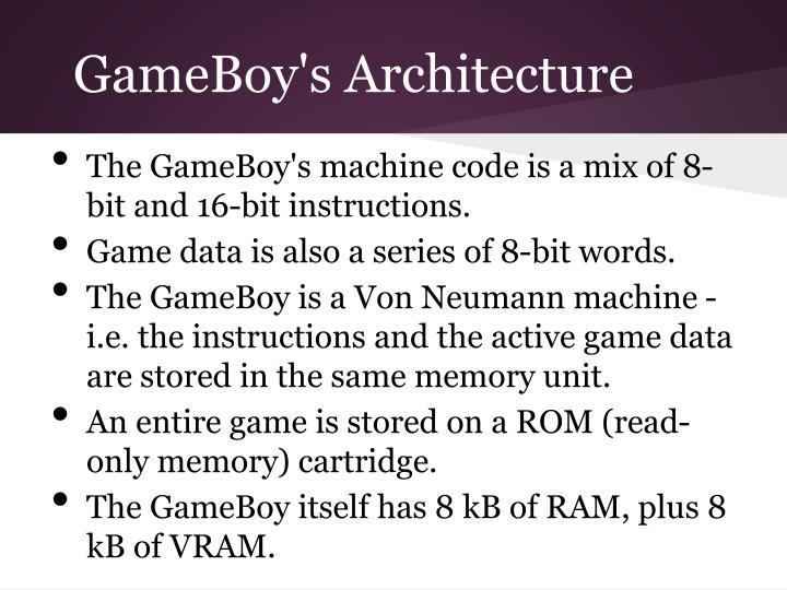 GameBoy's Architecture