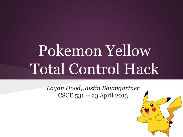 pokemon yellow total control hack