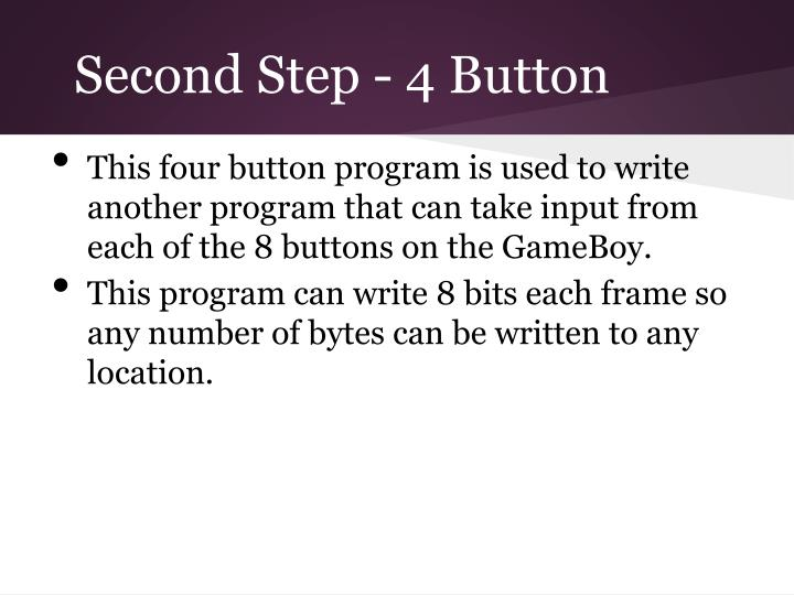 Second Step - 4 Button