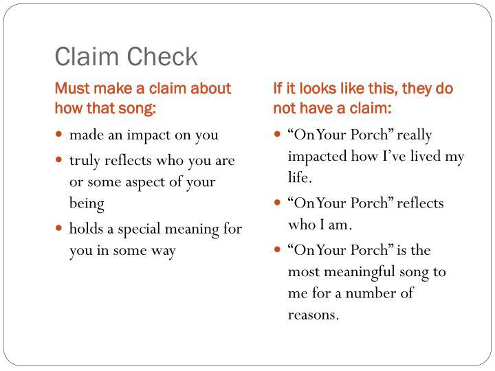 Claim Check