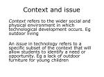 context and issue