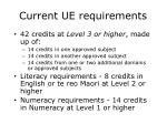current ue requirements
