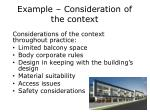 example consideration of the context1