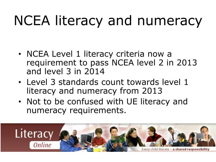 NCEA literacy and numeracy