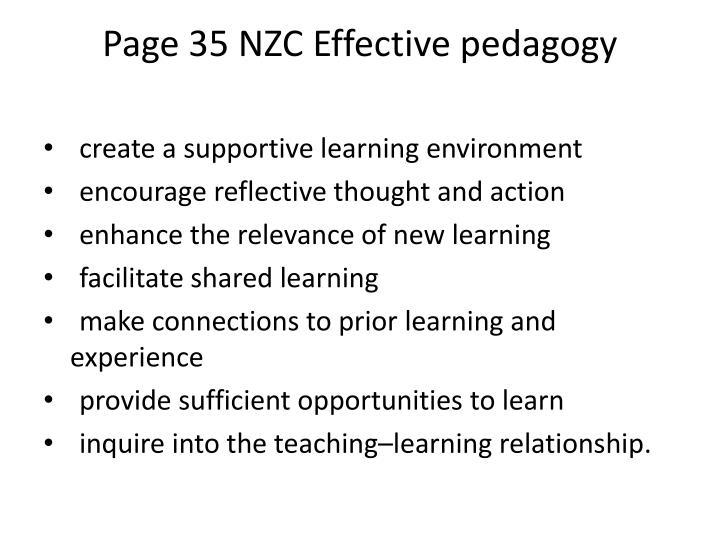 Page 35 NZC Effective
