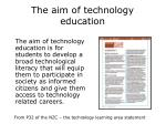 the aim of technology education
