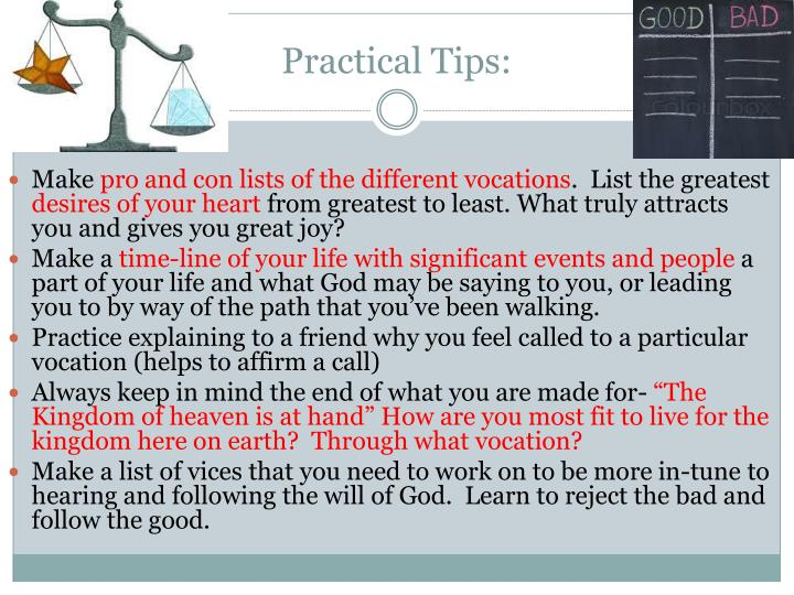 Practical Tips: