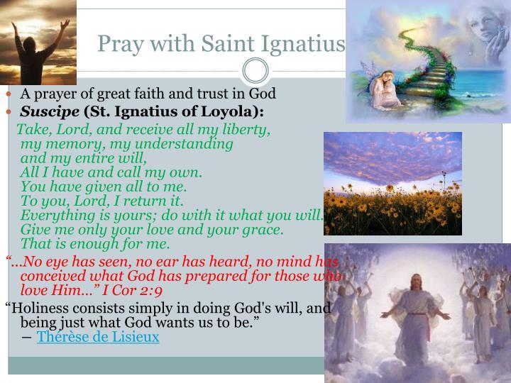 Pray with Saint Ignatius