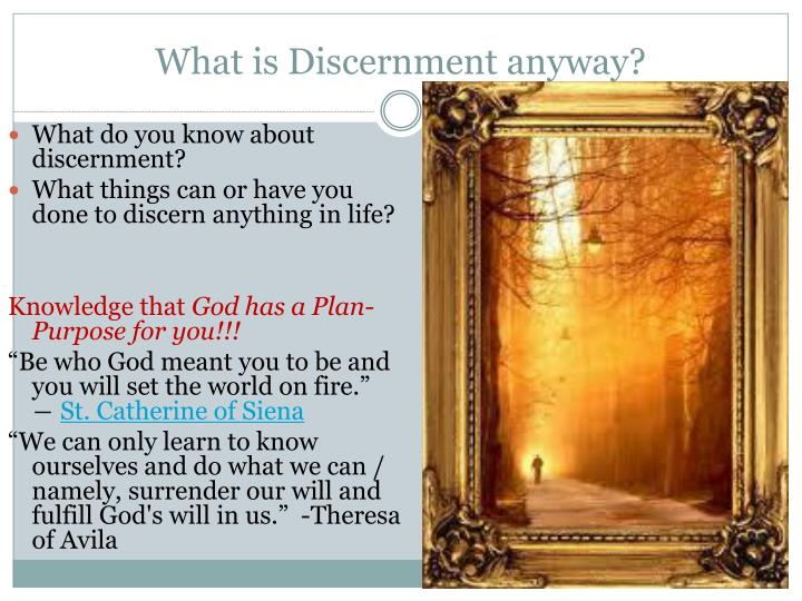 What is discernment anyway