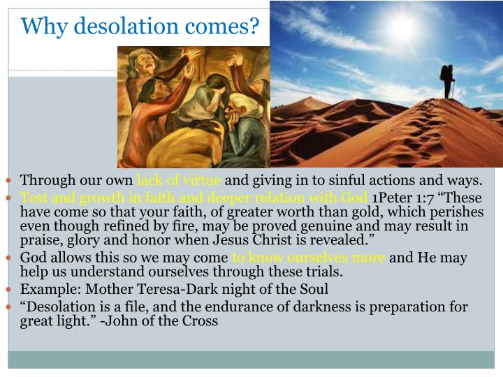 Why desolation comes?