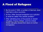 a flood of refugees