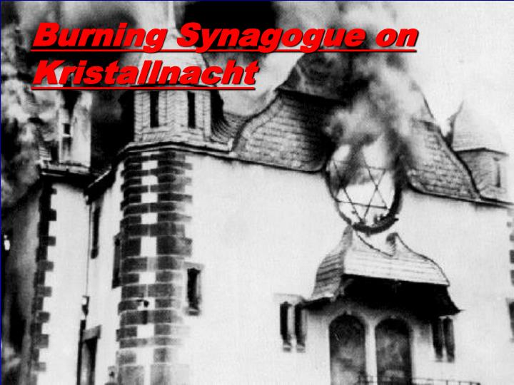 Burning Synagogue on Kristallnacht