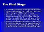 the final stage