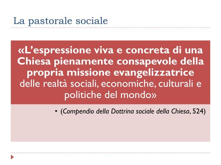 La pastorale sociale