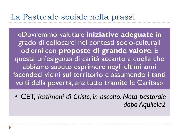 La Pastorale sociale nella prassi