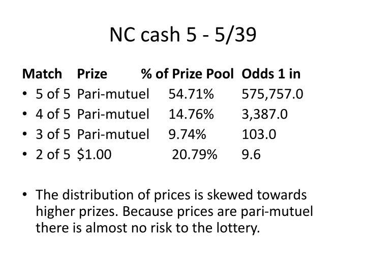 NC cash 5 - 5/39
