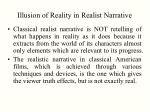 illusion of reality in realist narrative1