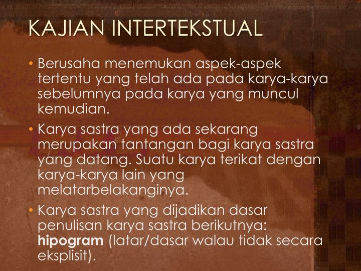 KAJIAN INTERTEKSTUAL