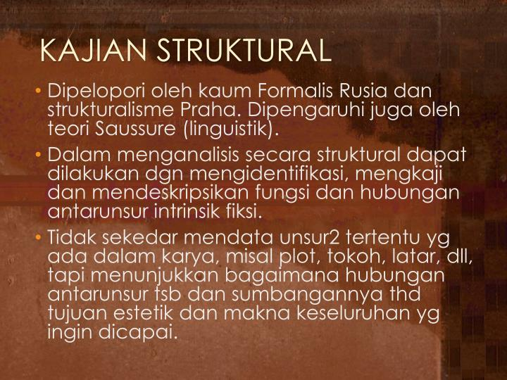 KAJIAN STRUKTURAL