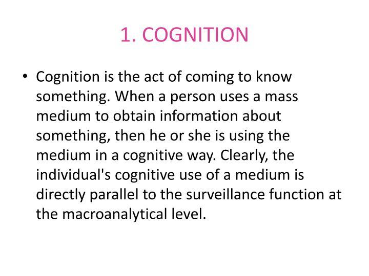 1. COGNITION