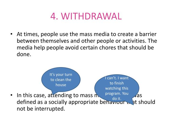 4. WITHDRAWAL