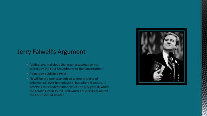 Jerry Falwell's Argument