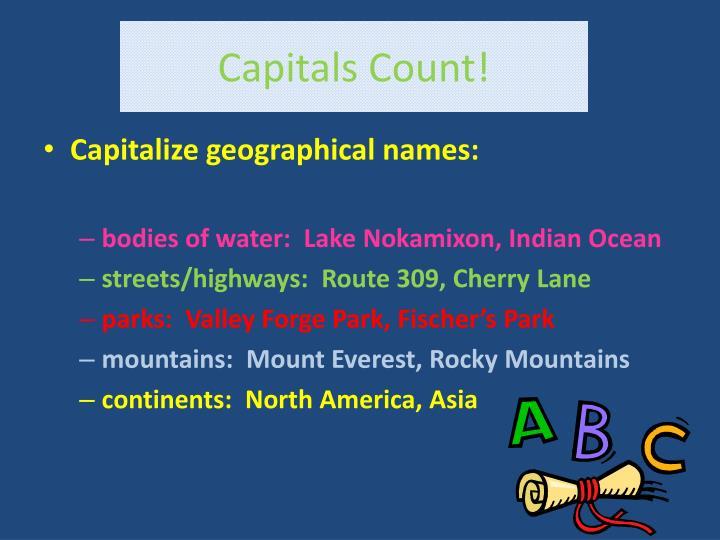 Capitals Count!