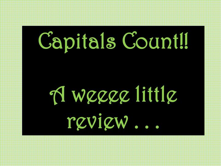 Capitals Count!!